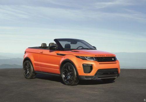 Para alquiler Range Rover Evoque Cabrio Auto in Ibiza